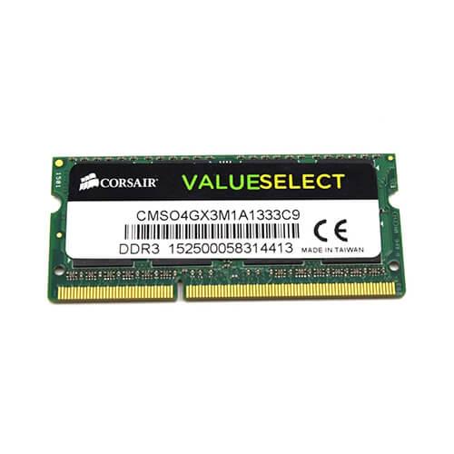 RAM Laptop DDR3 Corsair 4GB Bus 1333 SODIMM CMSO4GX3M1A1333C9 2