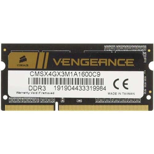 RAM Laptop DDR3 Corsair Vengeance 4GB Bus 1600 SODIMM CMSX4GX3M1A1600C9 1