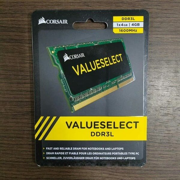 RAM Laptop DDR3L Corsair 4GB Bus 1600 SODIMM CMSO4GX3M1C1600C11 4