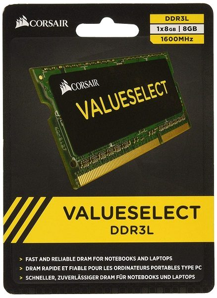 RAM Laptop DDR3L Corsair 8GB Bus 1600 SODIMM CMSO8GX3M1C1600C11 3