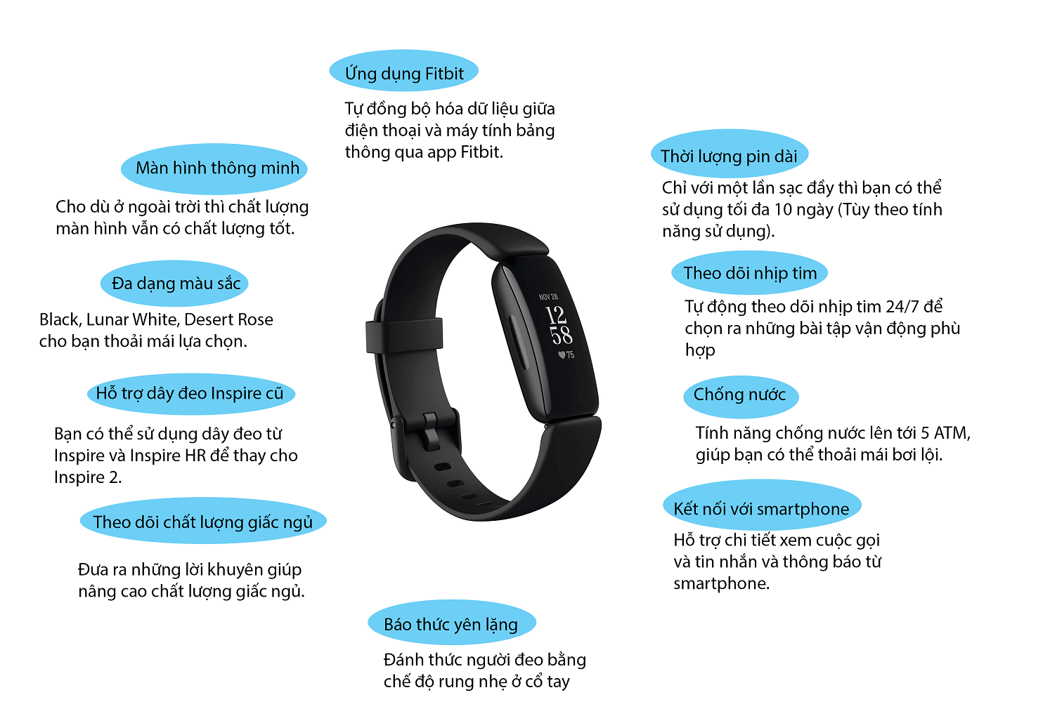 Infographic Fitbit Inspire 2