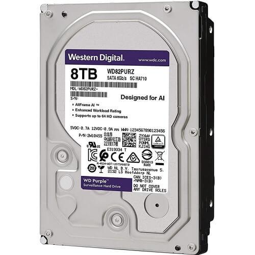 HDD WD Purple 8TB 3.5 inch SATA iii WD82PURZ 3