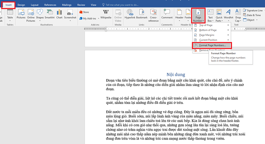 Cách đánh số trang trong Word chi tiết hình 7