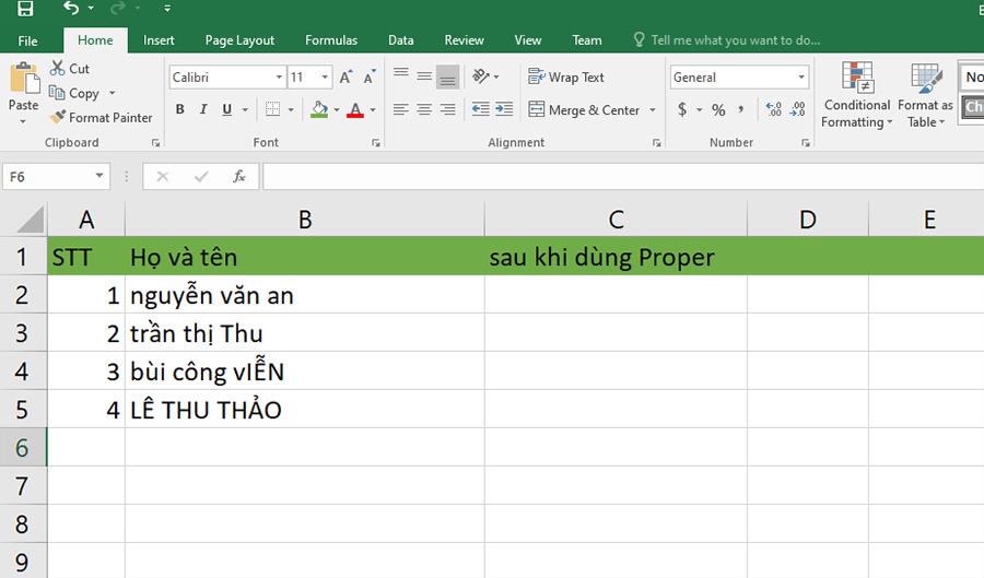 Hướng dẫn cách viết hoa chữ cái đầu trong Excel hình 3