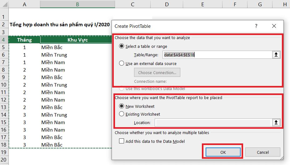 Pivot Table là gì, lợi ích khi sử dụng Pivot Table trong Excel hình 3