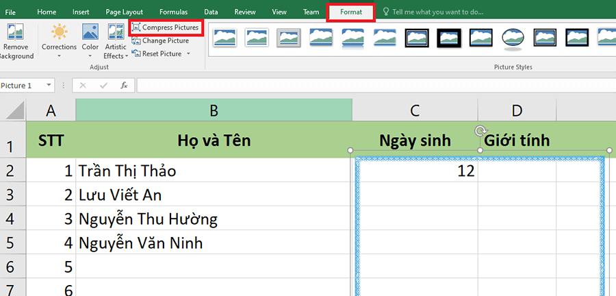 Hướng dẫn cách giảm dung lượng file Excel hình 6