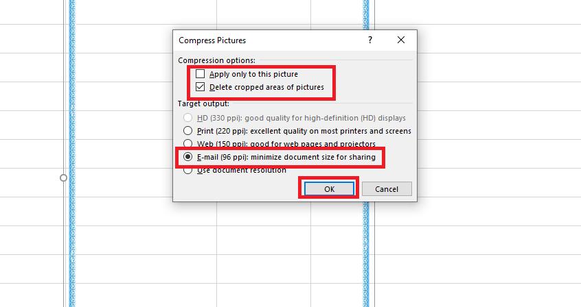 Hướng dẫn cách giảm dung lượng file Excel hình 7